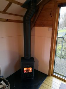 The Sheiling, log burner