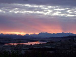 Cuillins winter sunset