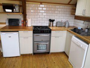 Modern kitchen, gas hob