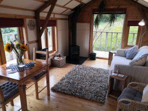 Cosy living room, log burner